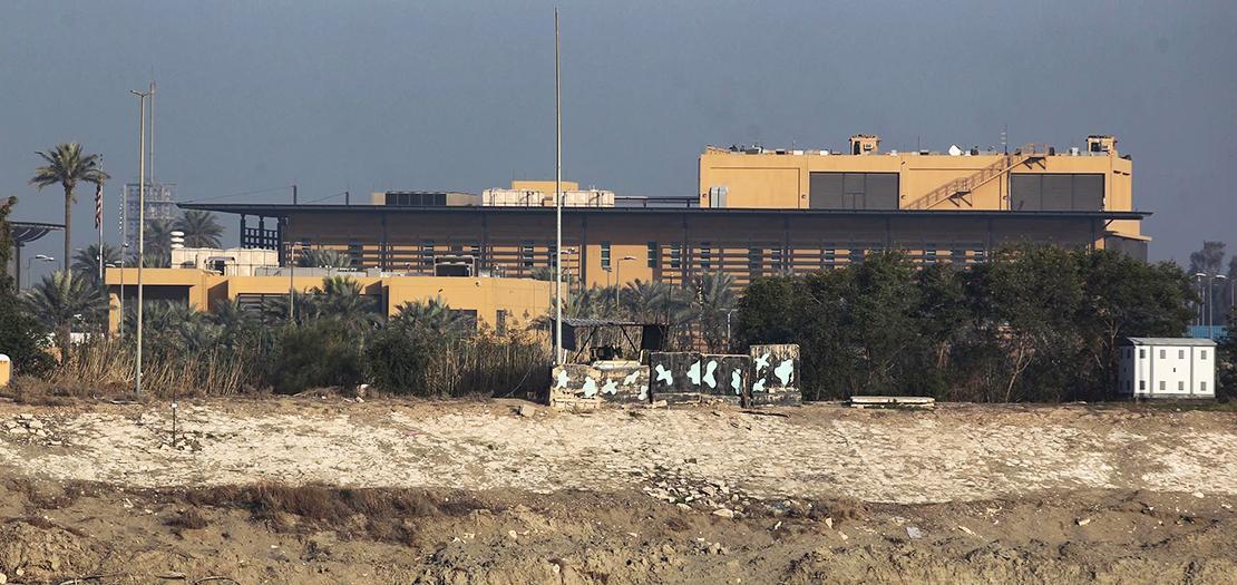 منظر عام للسفارة الأميركية في بغداد