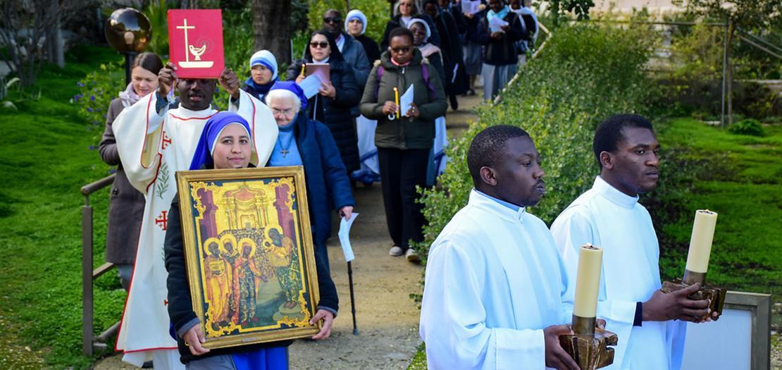 الاحتفال باليوم العالمي للحياة المكرسة 2020 في الأرض المقدسة (تصوير: البطريركية اللاتينية)