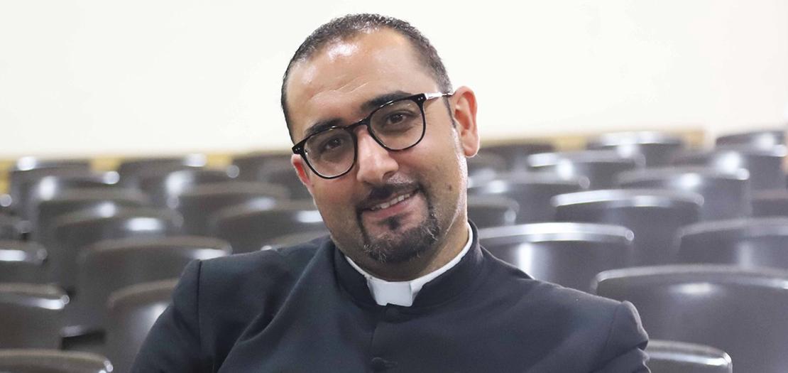 الأب بشار فواضله، المرشد الروحي لشبيبة موطن يسوع – فلسطين