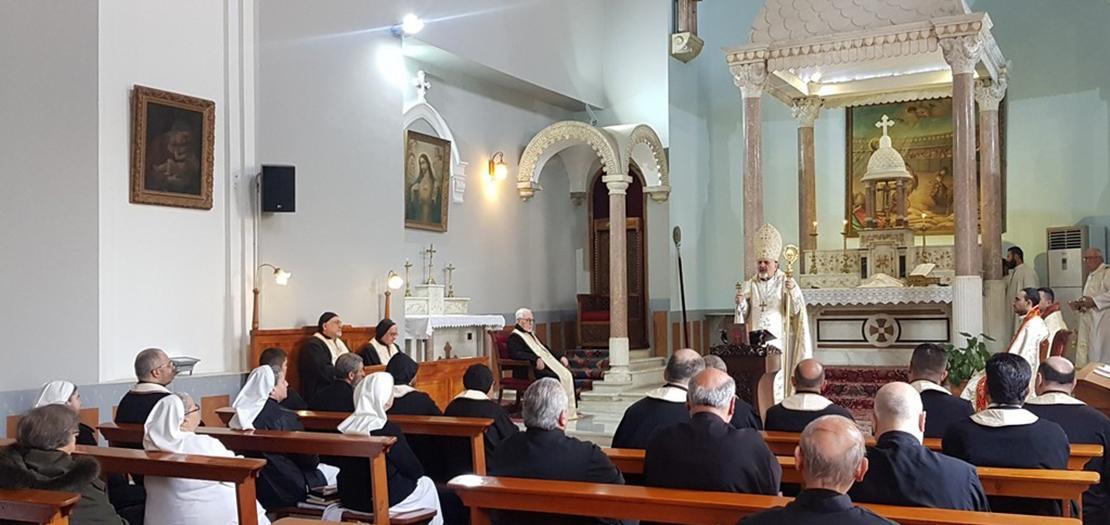 جانب من القداس الإلهي (بطريركية السريان الكاثوليك)