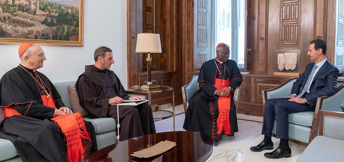 الكاردينال توركسن يسلم الرئيس الأسد رسالة خطية من البابا فرنسيس