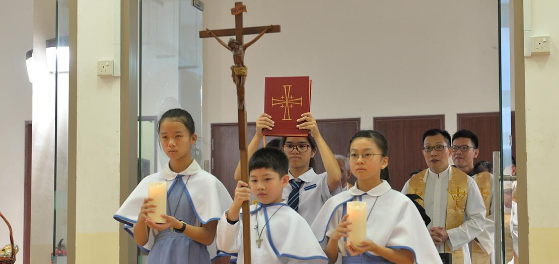 من احتفالات أبرشية سنغافورة