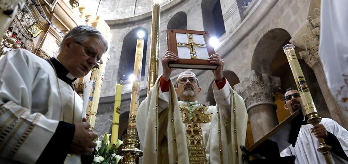 المدبر الرسولي للبطريركية اللاتينية رئيس الأساقفة بييرباتيستا بيتسابالا