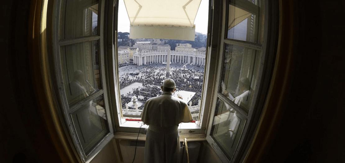 البابا فرنسيس خلال صلاة التبشير الملائكي (إعلام الفاتيكان)