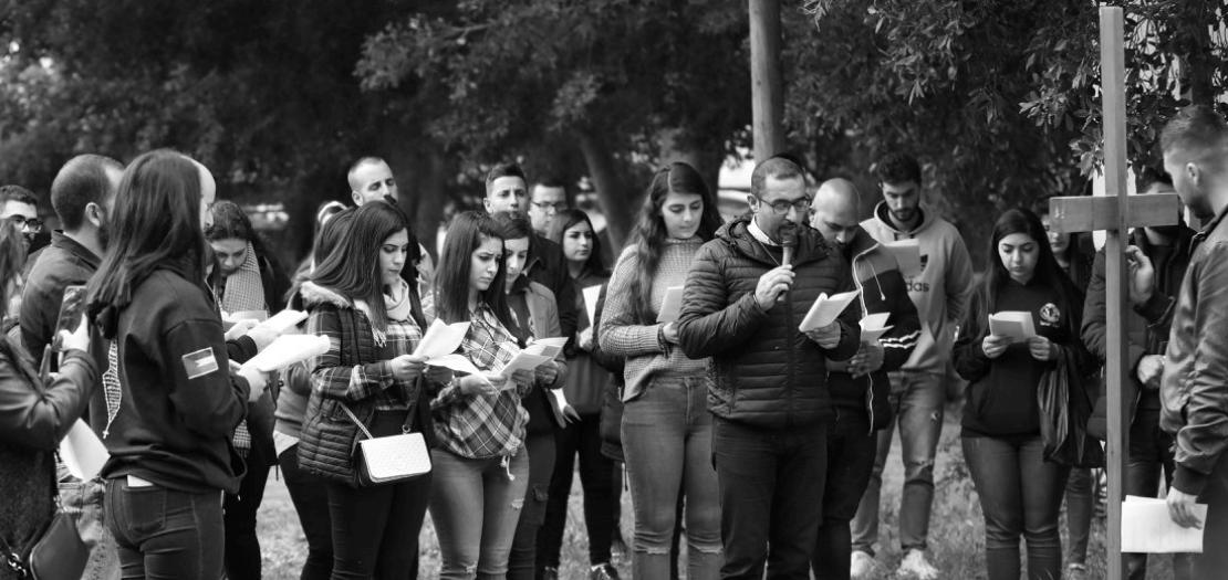 الأب بشار فواضله، المرشد الروحي لشبيبة موطن يسوع - فلسطين