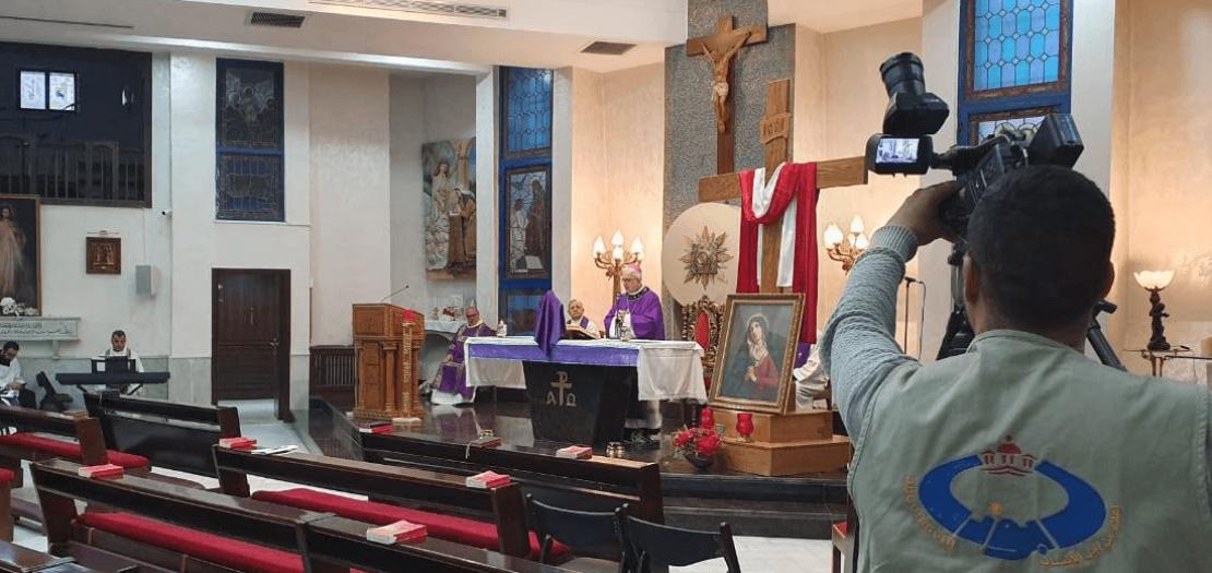 """موقع """"أبونا"""" يواكب احتفالات الأسبوع المقدس 2020، من كنيسة العذراء الناصرية - عمّان"""