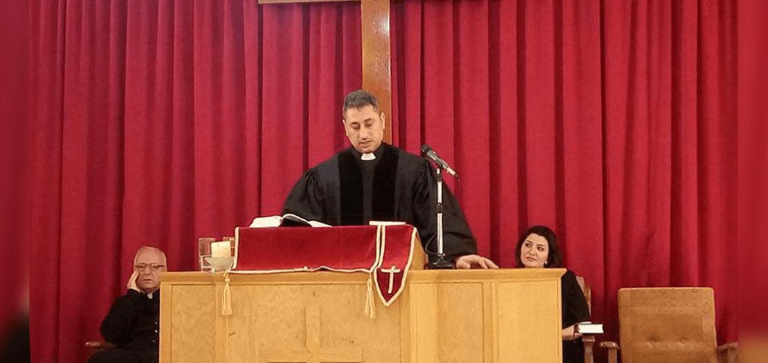 القس فراس فرح، راعي الكنيسة الإنجيلية الوطنية في القامشلي