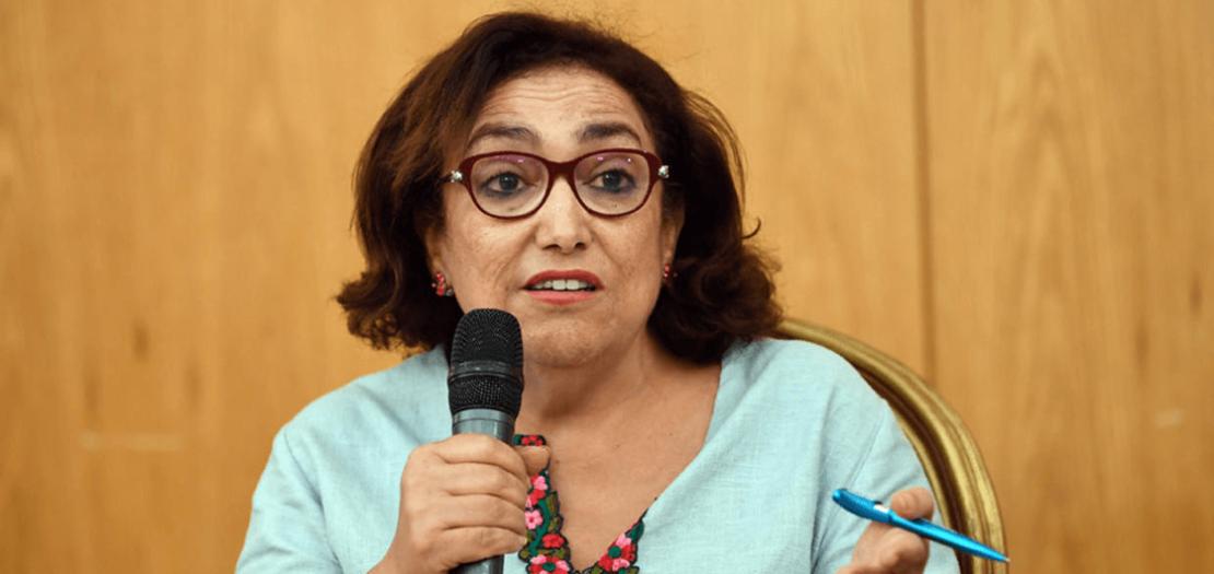 النائبة التونسية السابقة بشرى بلحاج حميدة في تونس، 20 حزيران 2018