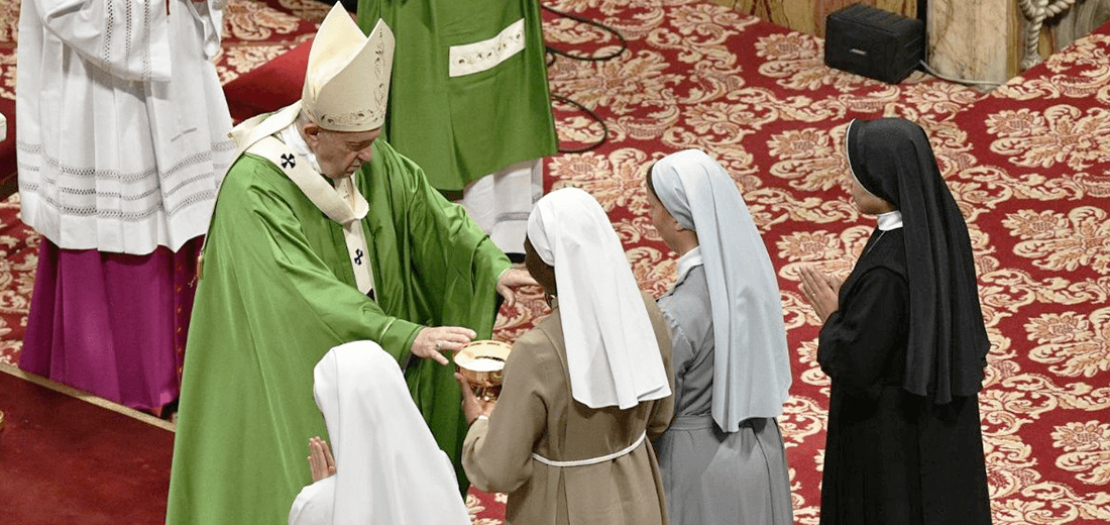 البابا فرنسيس يحتفل بالقداس في اليوم العالمي للإرساليات عام 2019 (ميديا الفاتيكان)