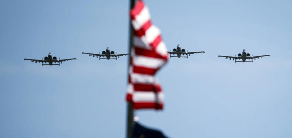 """طائرات """"إيه-10 ثاندر بولت 2"""" التابعة لسلاح الجو الأمريكي، فورت واين في إنديانا. 13 أيار 2020"""