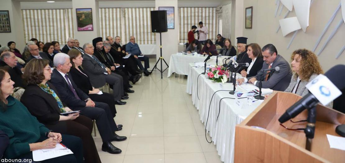 جلسة نقاشية حول قانون الأحوال الشخصية للمسيحيين، في جمعية الشابات المسيحية في عمّان، آذار 2019 (تصوير: أبونا)