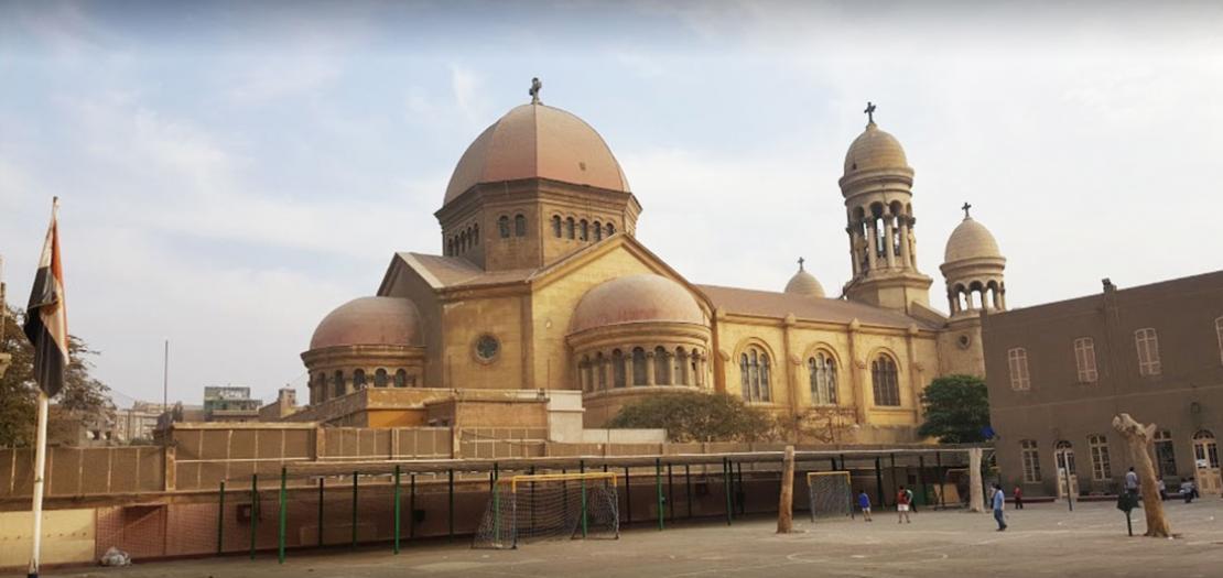 كاتدرائية سان مارك (القديس مرقس) في حي شبرا، شمال العاصمة المصرية القاهرة