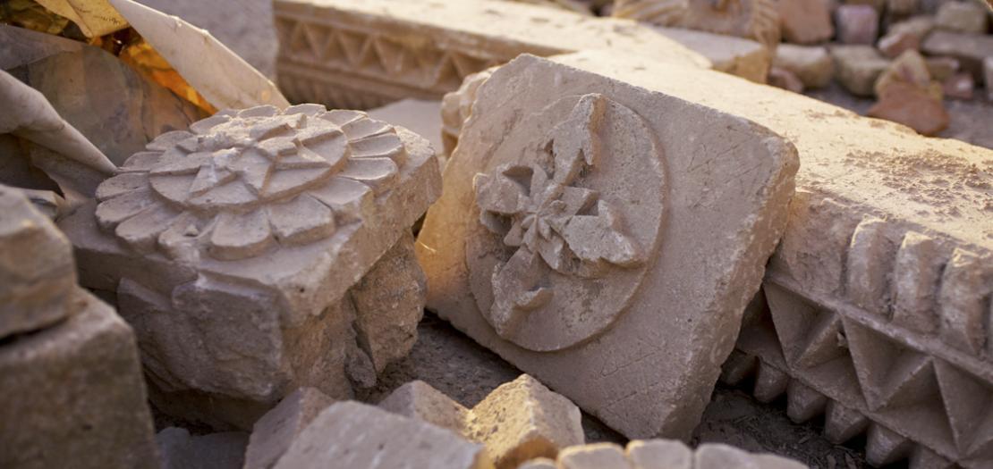 آثار من دير الشهيدين مار بهنام وأخته مارت سارة، شمال العراق