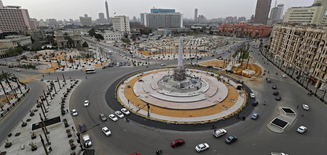 ميدان التحرير في وسط القاهرة، 25 آذار 2020
