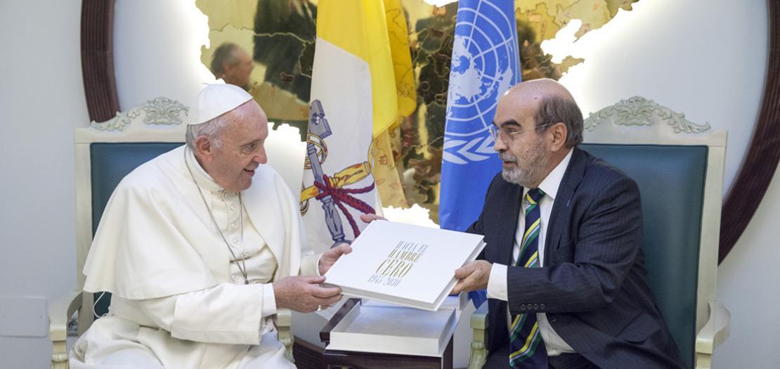 البابا فرنسيس يلتقي مدير منظمة الغداء والزراعة التابعة للأمم المتحدة (أرشيفية)