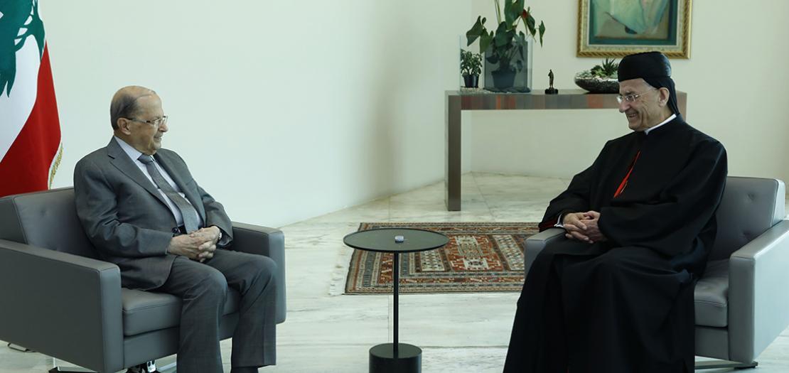 رئيس الجمهورية اللبنانية يستقبل البطريرك الماروني، 15 تموز 2020