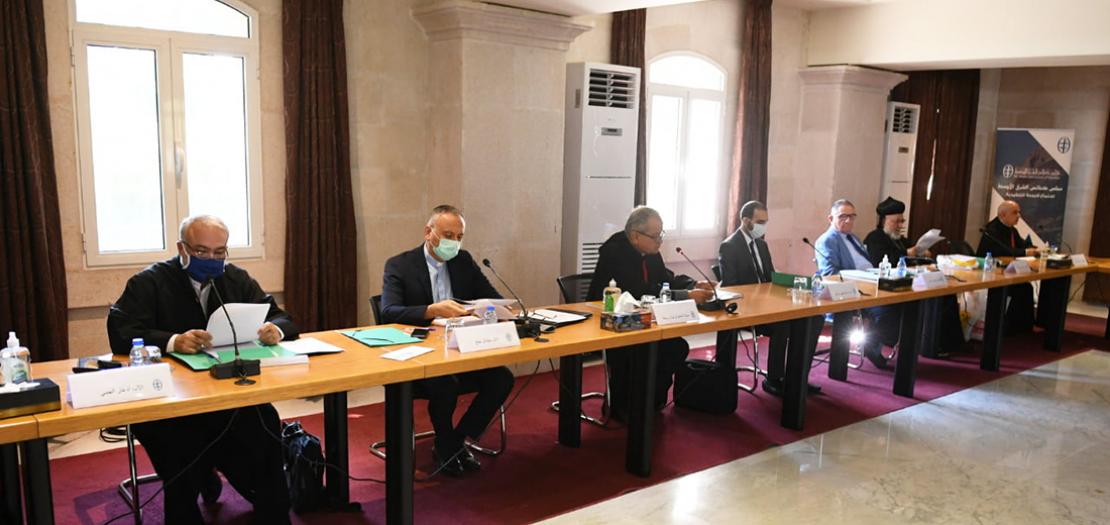 جانب من اجتماع اللجنة التنفيذية لمجلس كنائس الشرق الأوسط، 18 أيلول 2020