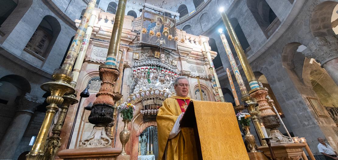 حارس الأراضي المقدسة الأب فرانشيسكو باتون (تصوير: نديم عصفور)