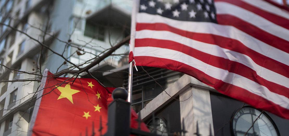 العلمان الصيني والأميركي في بكين، 6 كانون الأول 2018