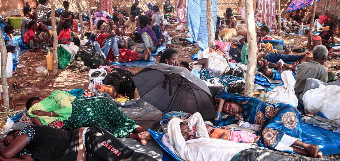 لاجئون إثيوبيون في السودان
