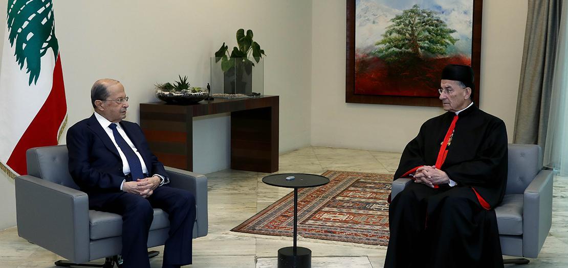 الرئيس اللبناني يلتقي البطريرك الماروني (رئاسة الجمهورية اللبنانية)