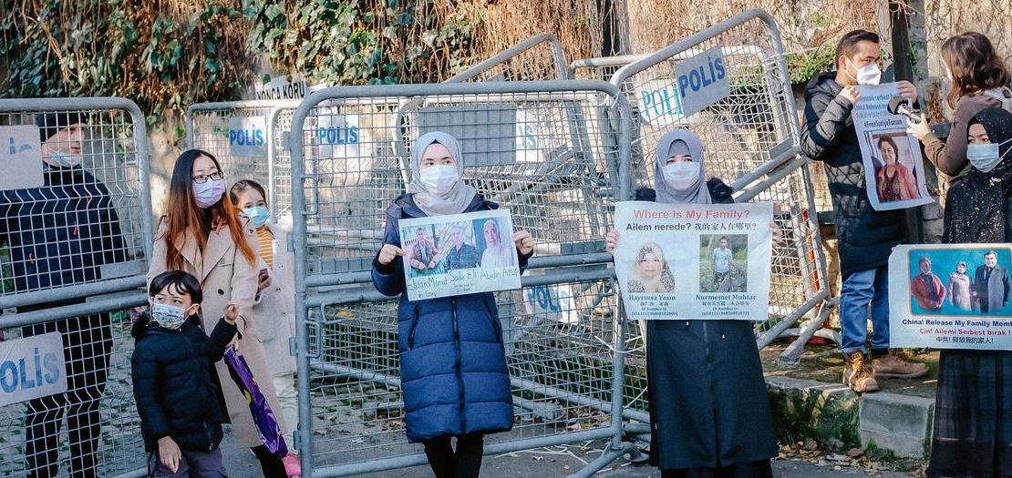 تظاهرة أمام القنصلية الصينية في اسطنبول، دعما للأويغور ورفضًا لاتفاق تبادل مطلوبين بين تركيا والصين، 30 كانون الأول 2020