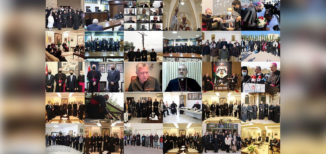 بانوراما لنشاطات البطريرك بيتسابالا خلال زيارته الرسمية الأولى إلى الأردن (مصورو موقع أبونا)