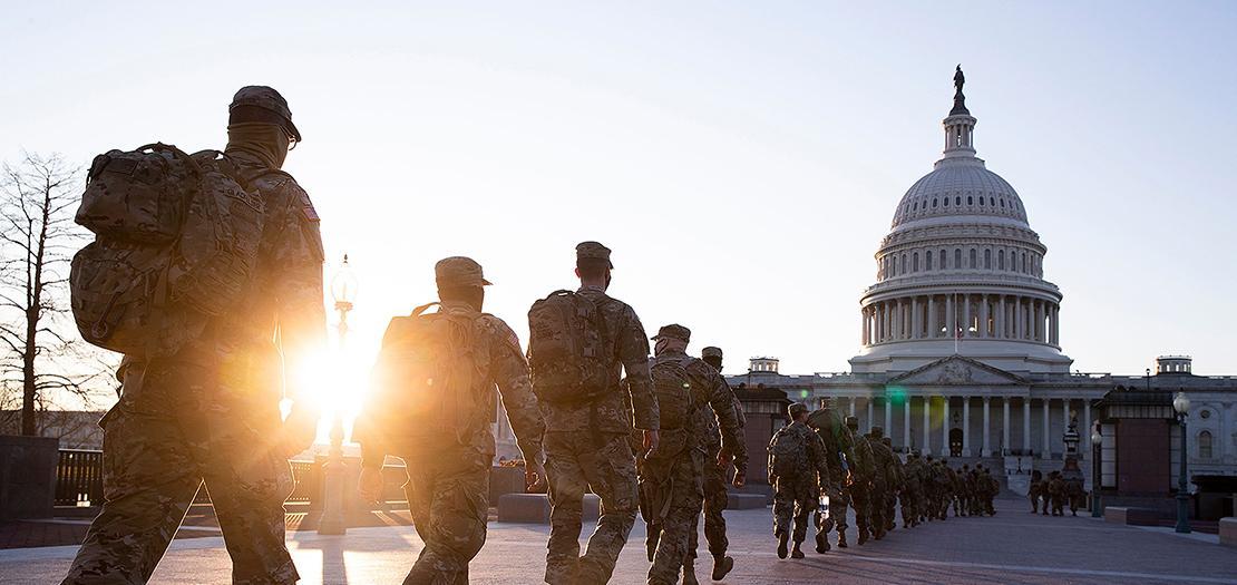 الحرس الوطني ينشر 20 ألفًا من قواته لتأمين تنصيب جو بايدن