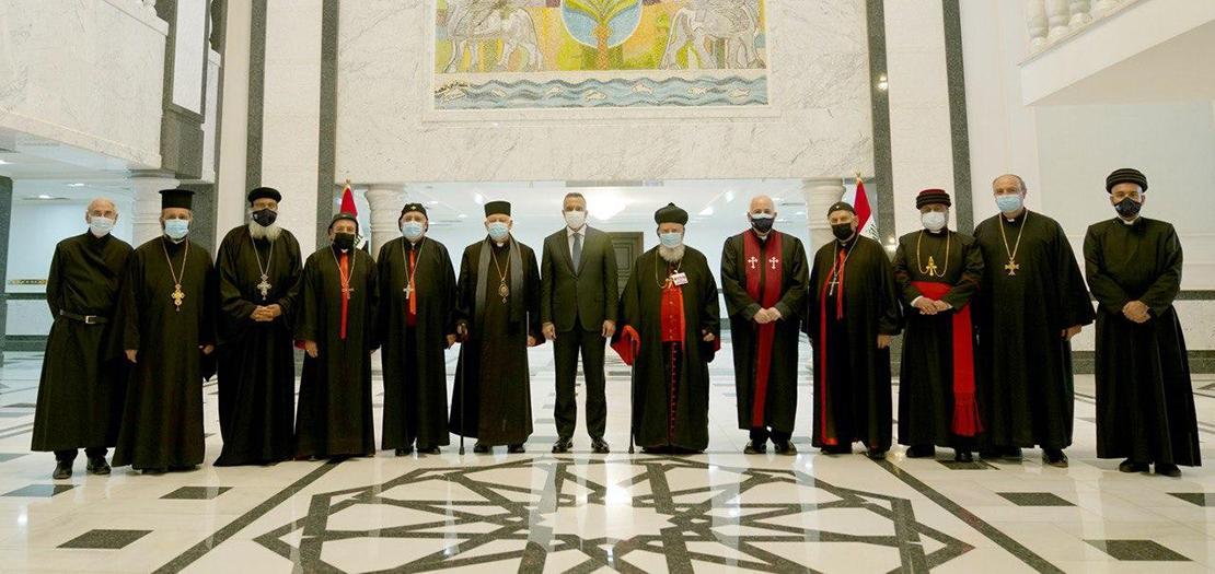 السيد مصطفى الكاظمي يلتقي أعضاء مجلس رؤساء الطوائف المسيحية في العراق