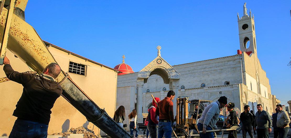 التحضيرات والاستعدادات تجري على قدم وساق لاستقبال البابا فرنسيس في زيارته التاريخية إلى العراق