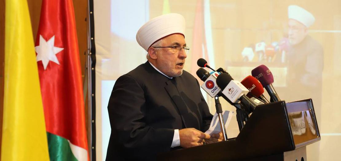 د. محمد النقري خلال مشاركته في الاحتفال الأردني المشترك بعيد البشارة، 27 آذار 2019
