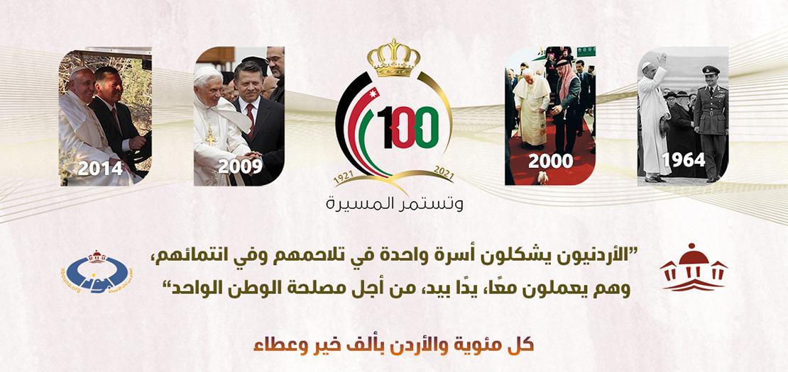 كل مئوية والأردن بألف خير وعطاء