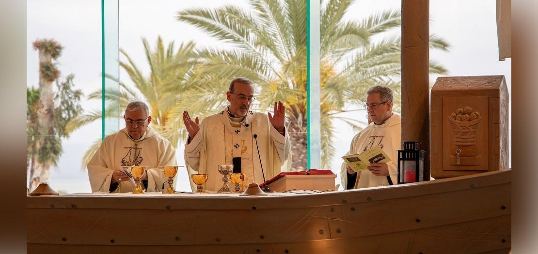 البطريرك بيتسابالا يترأس القداس الإلهي بعيد القديسة مريم المجدلية في مجدلة