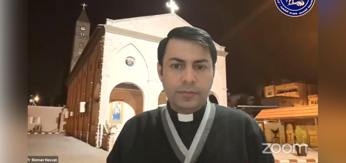 الأب سليمان شوباش، راعي كنيسة القديس جورج الشهيد، اربد - الأردن
