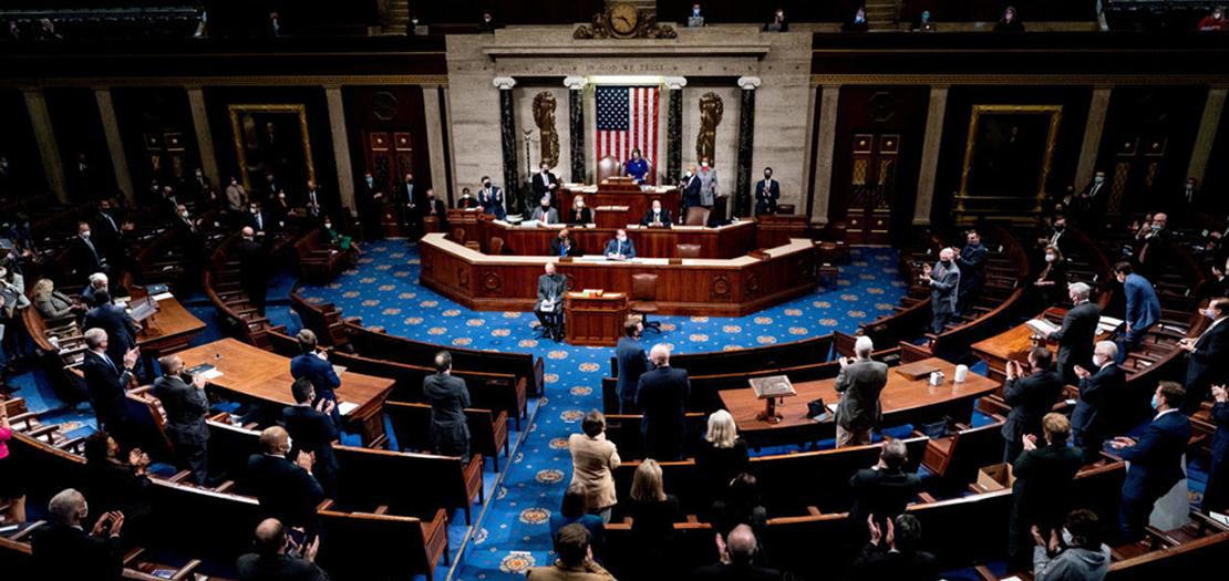 جلسة الكونغرس الأمريكي للمصادقة على فوز جو بايدن بالانتخابات الرئاسية (أرشيفية)