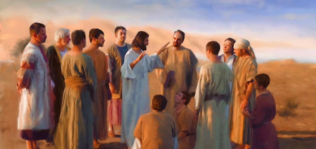 يصف يسوع العلاقة الّتي تربطه بالتلاميذ بعلاقة محبّة: وفي هذه الآيات القليلة تتكرّر كلمة محبّة تسع مرّات