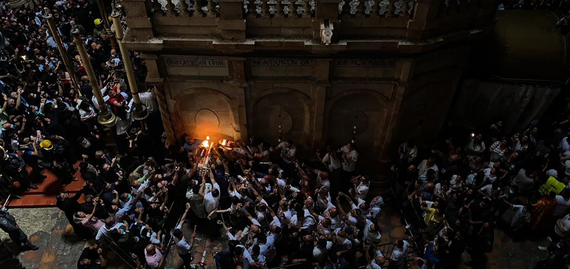 فيض النور في كنيسة القيامة، 1 أيار 2021 (تصوير: عفيف عميرة)