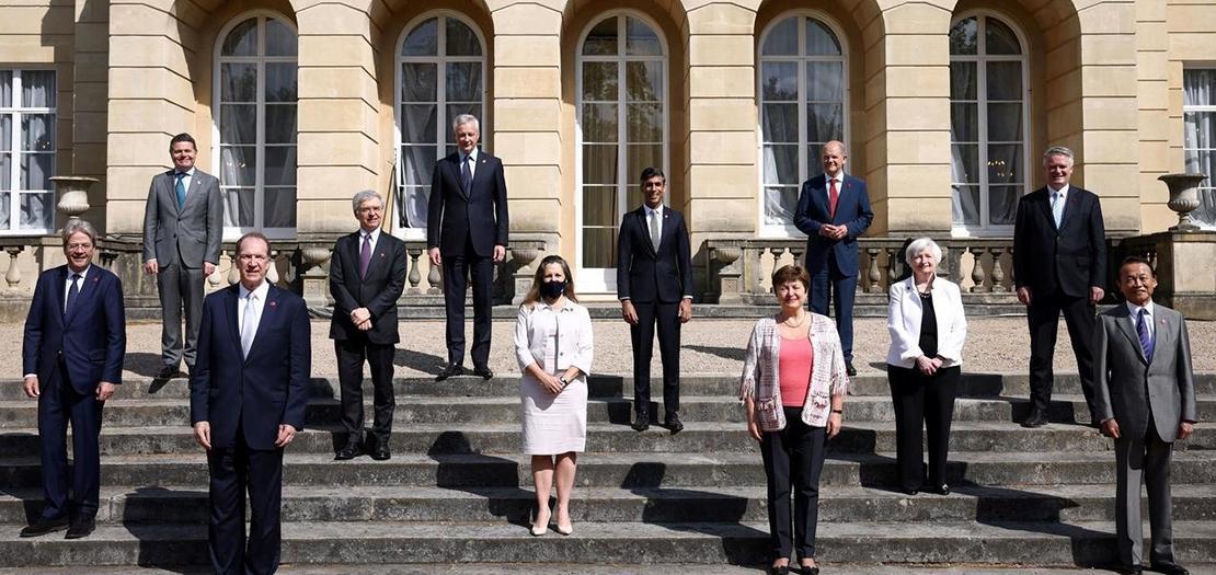صورة لمسؤولين ووزراء في مجموعة السبع، في لندن، يوم السبت 5 حزيران 2021
