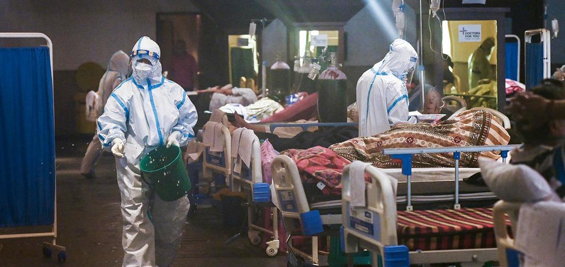 من أحد المستشفيات المكتظة في الهند