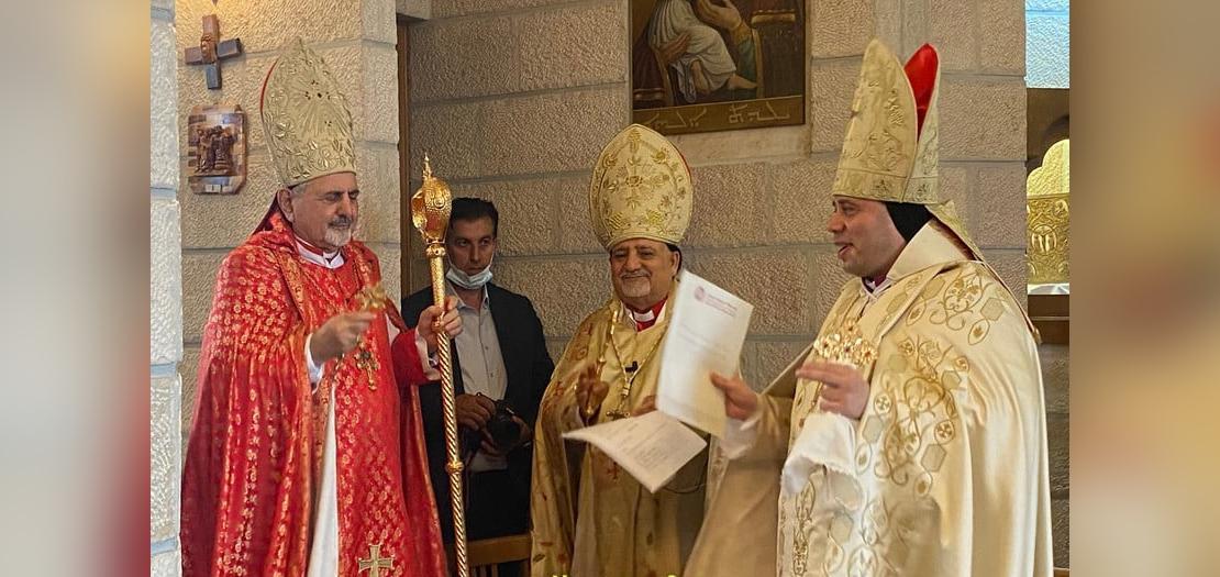 جانب من قداس التولية والتنصيب (تصوير: بطريركيّة السريان الكاثوليك)