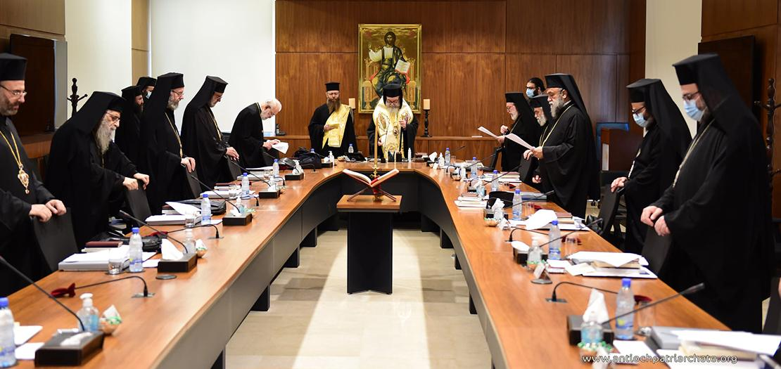 صورة لانطلاق أعمال المجمع الأنطاكي في البلمند 5 تشرين الأول 2021 (موقع البطريركيّة)