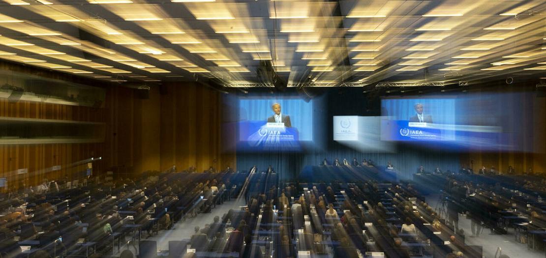 جانب من المؤتمر العام للوكالة الدولية للطاقة الذرية في 20 أيلول 2021 في فيينا