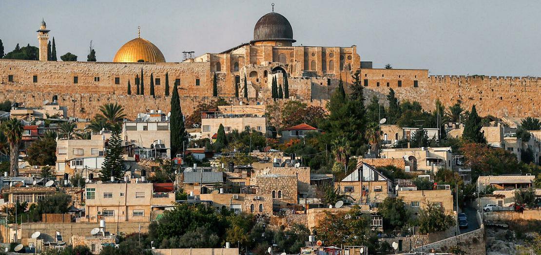 جزء من البلدة القديمة في القدس الشرقية المحتلة في صورة التقطت في 9 تشرين الثاني 2020